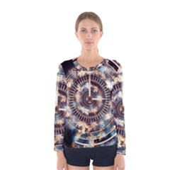 Science Fiction Background Fantasy Women s Long Sleeve Tee