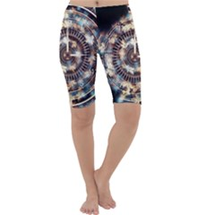 Science Fiction Background Fantasy Cropped Leggings