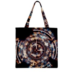 Science Fiction Background Fantasy Zipper Grocery Tote Bag