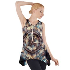 Science Fiction Background Fantasy Side Drop Tank Tunic