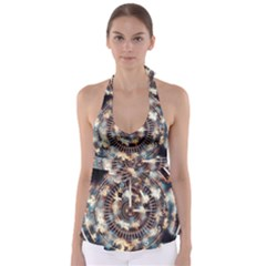 Science Fiction Background Fantasy Babydoll Tankini Top