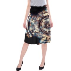 Science Fiction Background Fantasy Midi Beach Skirt