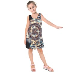 Science Fiction Background Fantasy Kids  Sleeveless Dress