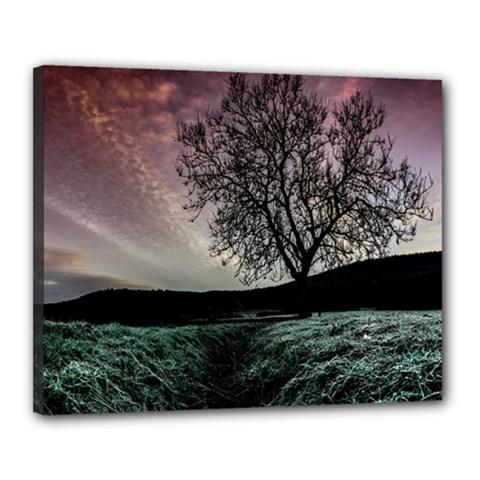 Sky Landscape Nature Clouds Canvas 20  x 16