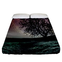Sky Landscape Nature Clouds Fitted Sheet (california King Size)