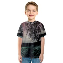 Sky Landscape Nature Clouds Kids  Sport Mesh Tee