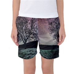 Sky Landscape Nature Clouds Women s Basketball Shorts