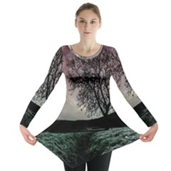 Sky Landscape Nature Clouds Long Sleeve Tunic