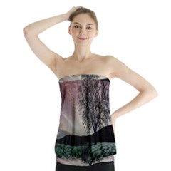 Sky Landscape Nature Clouds Strapless Top