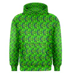 Green Abstract Art Circles Swirls Stars Men s Pullover Hoodie