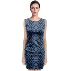HXG1 BK-MRBL BL-DENM (R) Classic Sleeveless Midi Dress