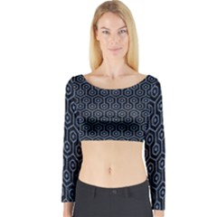 HXG1 BK-MRBL BL-DENM Long Sleeve Crop Top