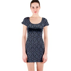 HXG1 BK-MRBL BL-DENM Short Sleeve Bodycon Dress