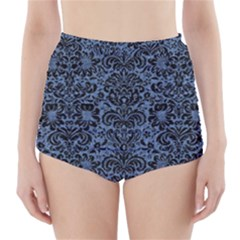 DMS2 BK-MRBL BL-DENM (R) High-Waisted Bikini Bottoms