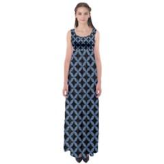 CIR3 BK-MRBL BL-DENM Empire Waist Maxi Dress
