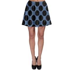 CIR2 BK-MRBL BL-DENM (R) Skater Skirt