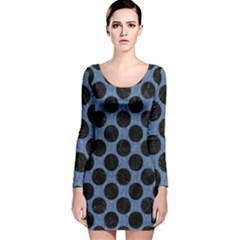 CIR2 BK-MRBL BL-DENM (R) Long Sleeve Velvet Bodycon Dress