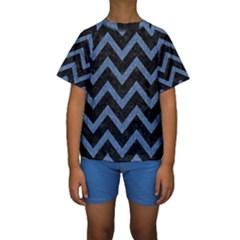 CHV9 BK-MRBL BL-DENM Kids  Short Sleeve Swimwear