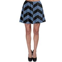 CHV2 BK-MRBL BL-DENM Skater Skirt