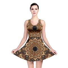 3d Fractal Art Reversible Skater Dress