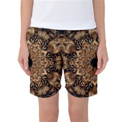 3d Fractal Art Women s Basketball Shorts