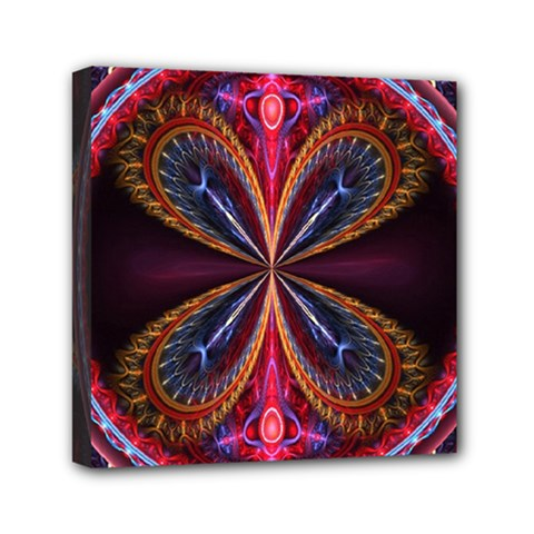 3d Abstract Ring Mini Canvas 6  X 6