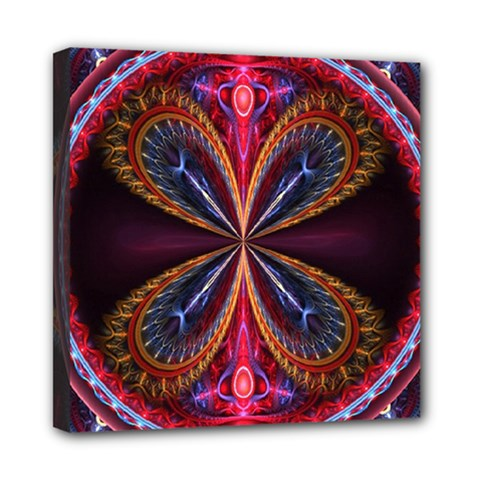 3d Abstract Ring Mini Canvas 8  X 8