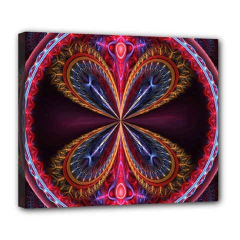 3d Abstract Ring Deluxe Canvas 24  x 20