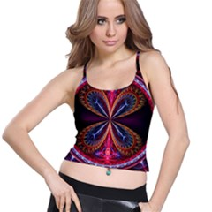 3d Abstract Ring Spaghetti Strap Bra Top