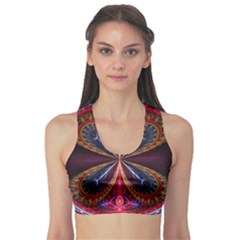 3d Abstract Ring Sports Bra