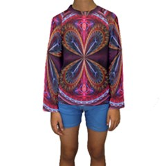 3d Abstract Ring Kids  Long Sleeve Swimwear