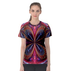 3d Abstract Ring Women s Sport Mesh Tee