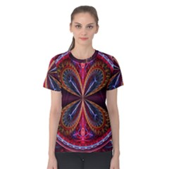 3d Abstract Ring Women s Cotton Tee