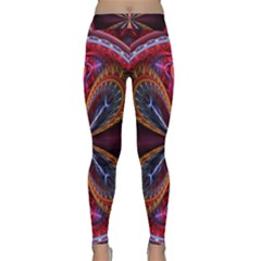 3d Abstract Ring Classic Yoga Leggings