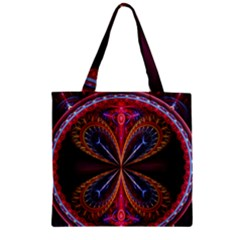3d Abstract Ring Zipper Grocery Tote Bag