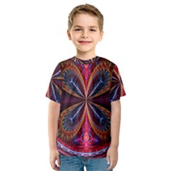 3d Abstract Ring Kids  Sport Mesh Tee