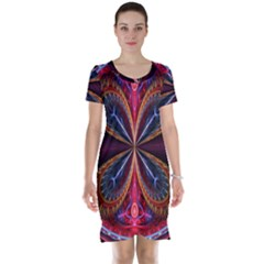 3d Abstract Ring Short Sleeve Nightdress
