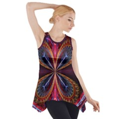 3d Abstract Ring Side Drop Tank Tunic