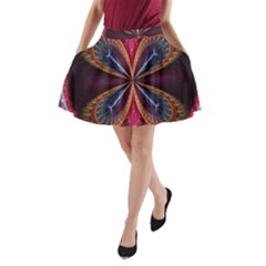 3d Abstract Ring A-Line Pocket Skirt