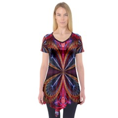3d Abstract Ring Short Sleeve Tunic