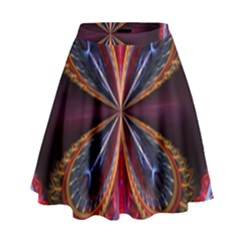 3d Abstract Ring High Waist Skirt