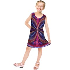 3d Abstract Ring Kids  Tunic Dress