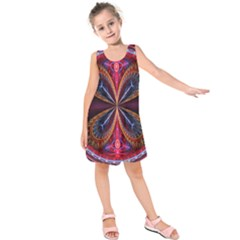 3d Abstract Ring Kids  Sleeveless Dress