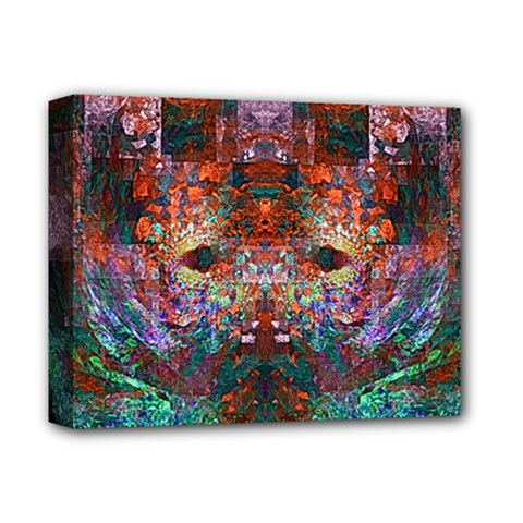 Modern Abstract Geometric Art Rainbow Colors Deluxe Canvas 14  X 11
