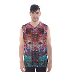 Modern Abstract Geometric Art Rainbow Colors Men s Basketball Tank Top