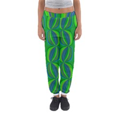 Blue Green Ethnic Print Pattern Women s Jogger Sweatpants