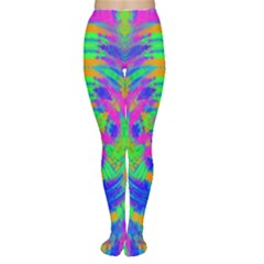 Boho Hippie Retro Psychedlic Neon Rainbow Tights