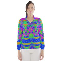 Boho Hippie Retro Psychedlic Neon Rainbow Wind Breaker (Women)