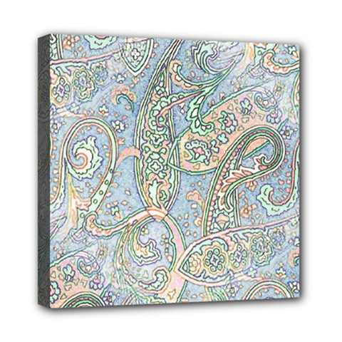 Paisley Boho Hippie Retro Fashion Print Pattern  Mini Canvas 8  x 8
