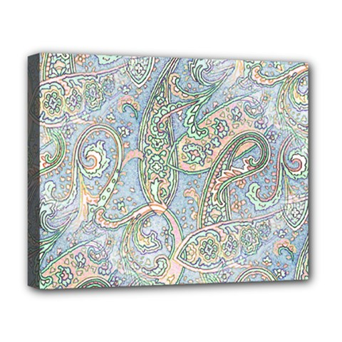 Paisley Boho Hippie Retro Fashion Print Pattern  Deluxe Canvas 20  x 16